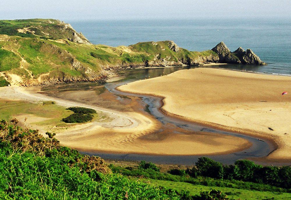 Three-Cliffs-Bay